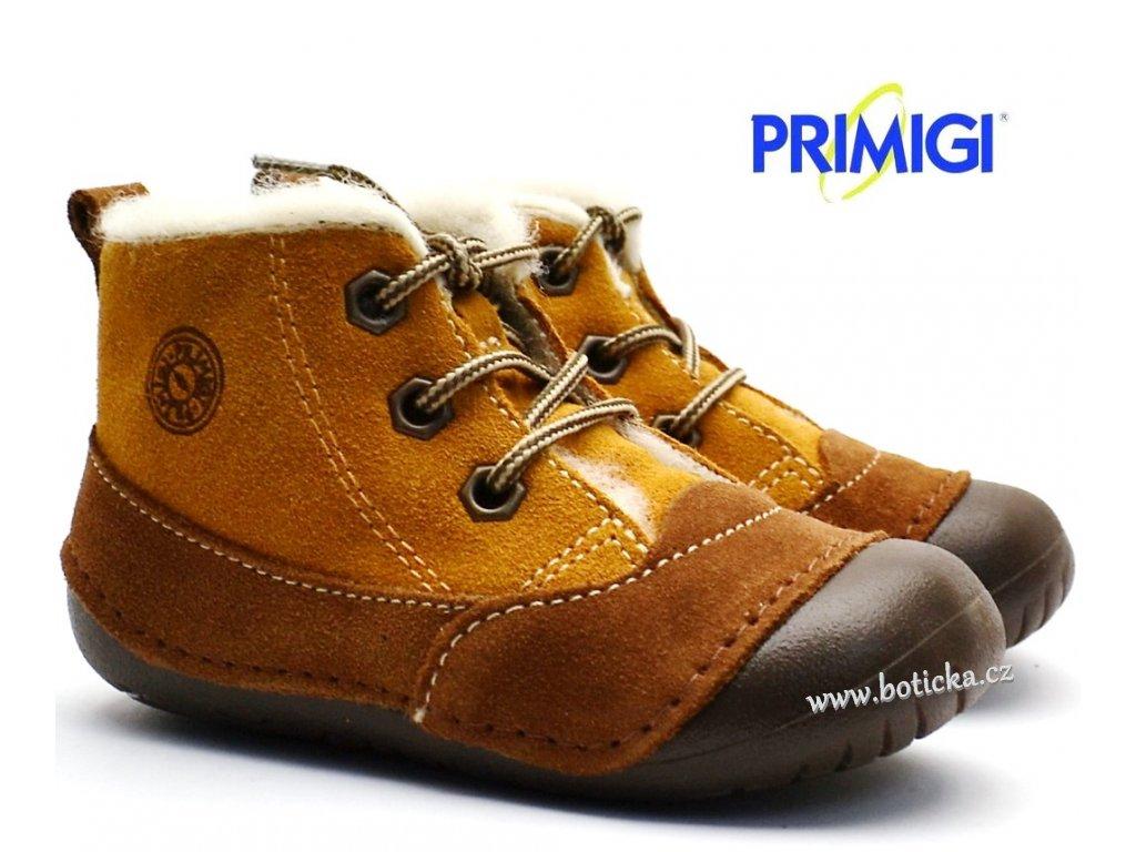 3086ceb639d6 Zimní barefootové boty PRIMIGI 2400011 hnědé - Botička