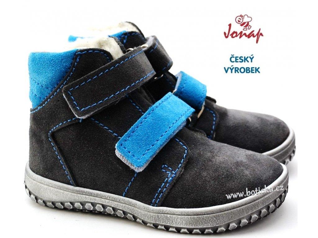 1e9d6ff49c7 Zimní boty JONAP B4 šedá+tyrkys - Botička
