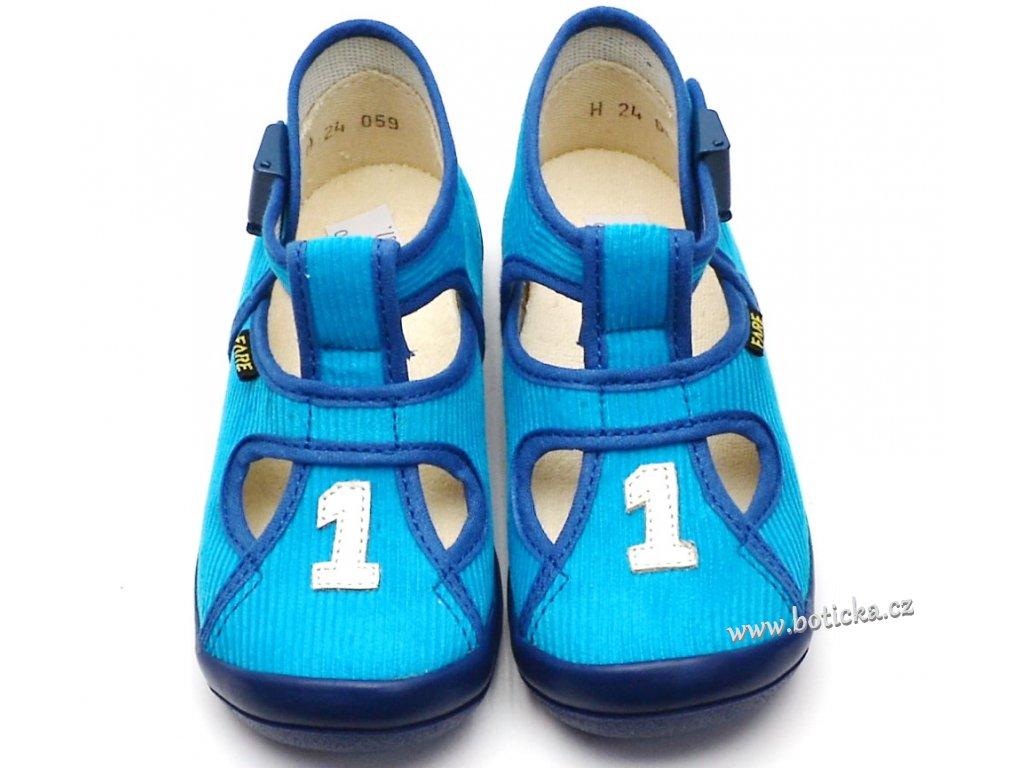 Bačkory FARE 4114400 modré - Botička 6f8d98ec67