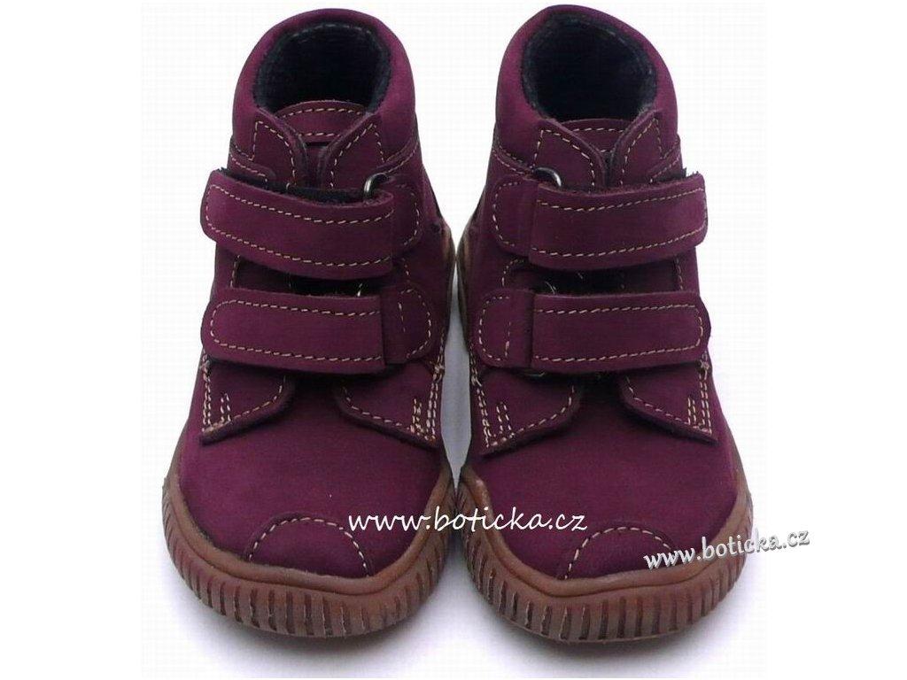 VELETA celoroční obuv 024 fialové - Botička 0ae34898a2