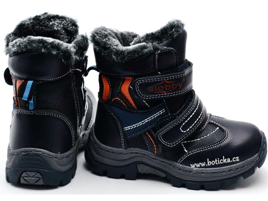 Zimní obuv Slobby 46-0337-T1 oranžovošedé - Botička aaf735ea1f