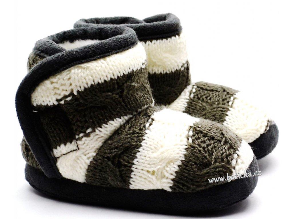 Zimní kojenecké capáčky PIDILIDI PD0558-09 bílošedé - Botička 9a878b757c