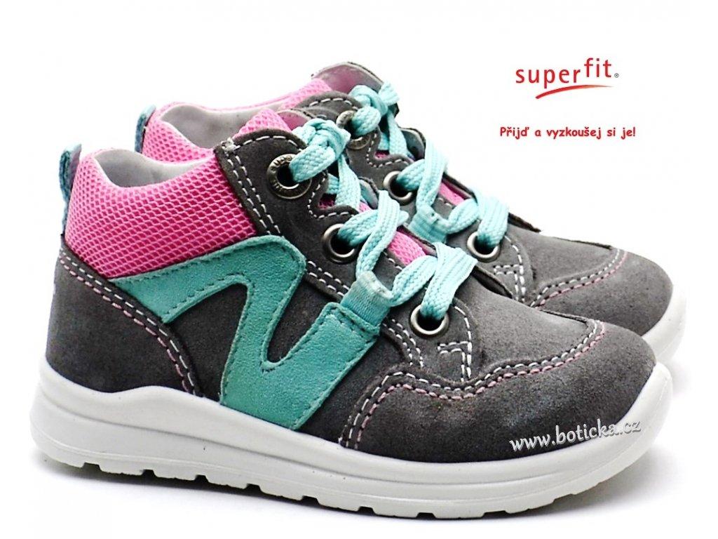 d6873572195 Dětské boty SUPERFIT 4-00323-25 grau rosa - Botička