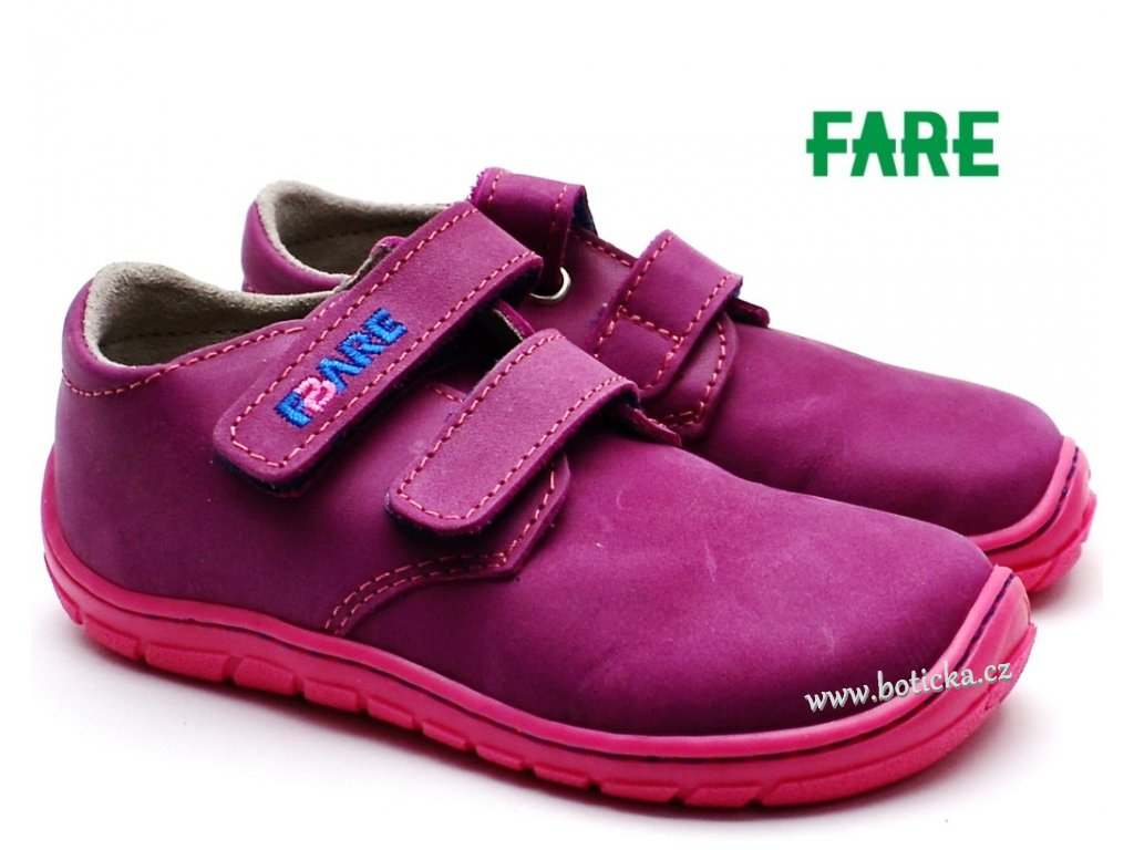 0ff1e4f6757e7 Dětské boty FARE BARE 5113291 růžové - Botička