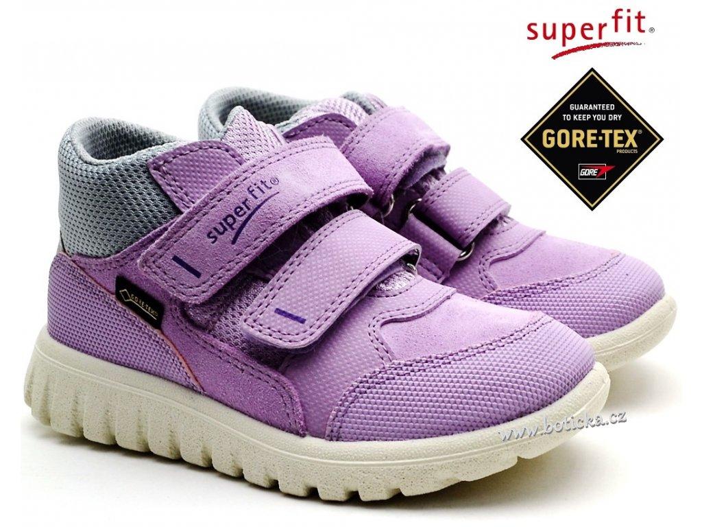 f3553bc1eda Dětské boty SUPERFIT 4-00193-90 lila grau - Botička