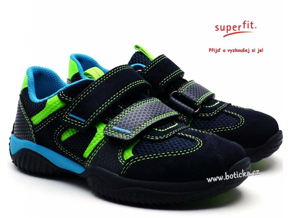 6105f9754032 Dětské boty SUPERFIT 4-09380-81 blau grun - Botička