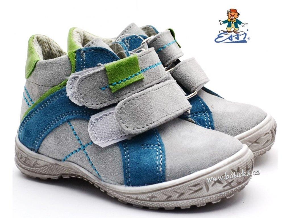 SÁZAVAN ESSI S 1902 Dětské boty modrošedé