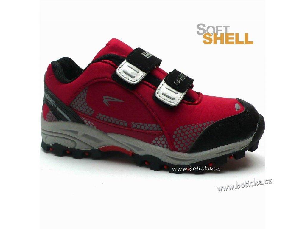 Softshell obuv Alpinex J212027 červené