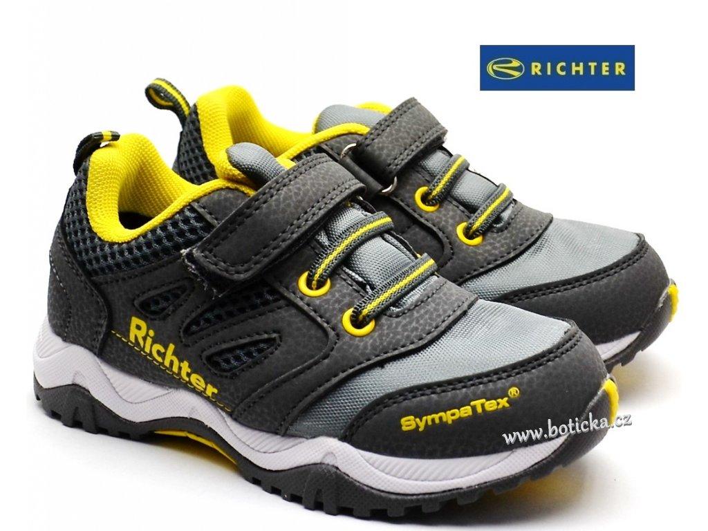 Dětské boty RICHTER 6432 543 6301 šedé