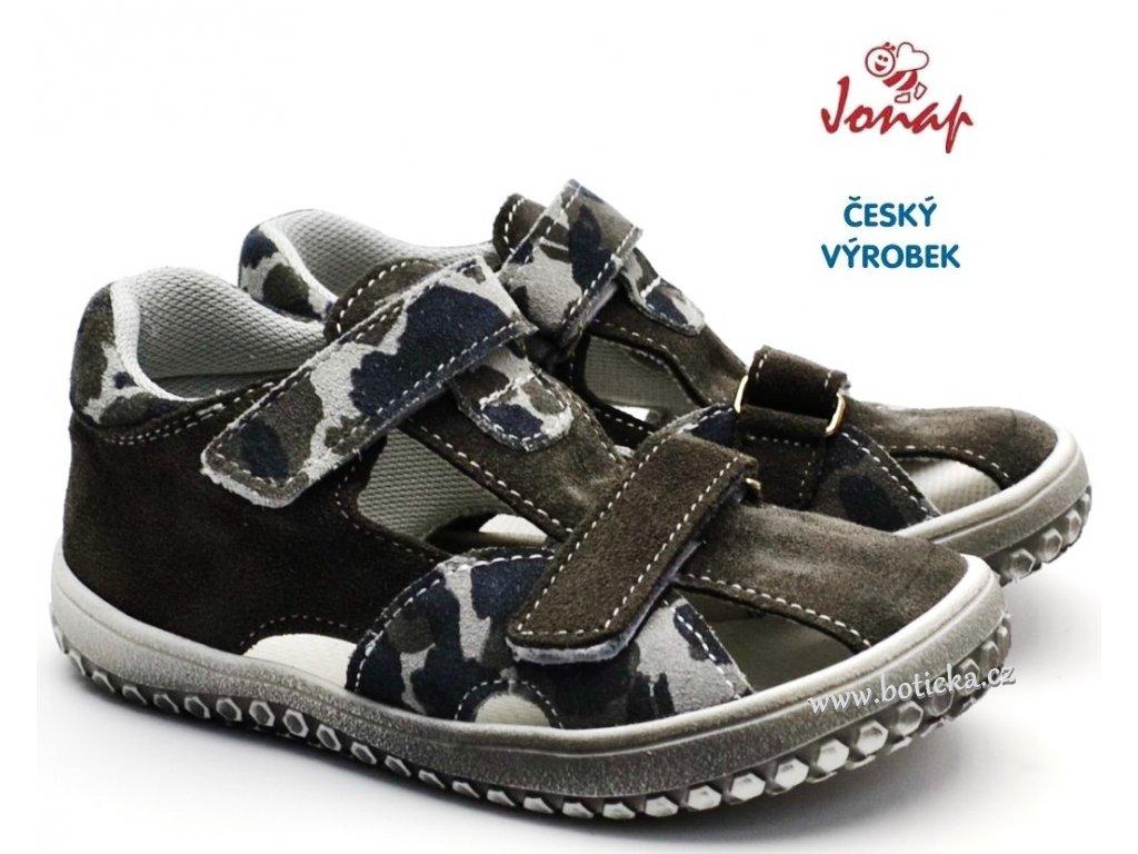JONAP B8 Dětské barefoot sandále šedé