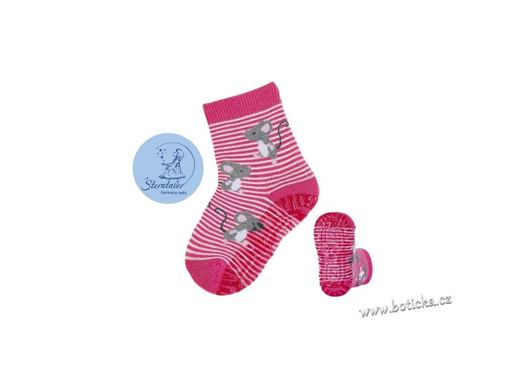 STERNTALER 8031916 Protiskluzové ponožky myšky