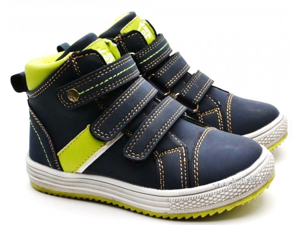 SLOBBY 46-0540-T1 dětské boty modrozelené