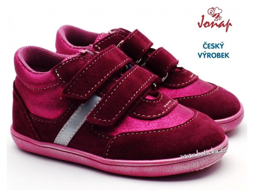 JONAP 727251-051s dětské boty - vínové