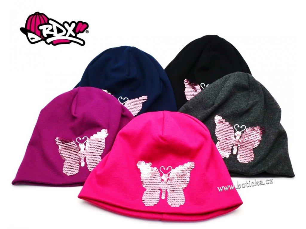 Čepice RDX 0242 dvouvrstvá Flitry Motýl
