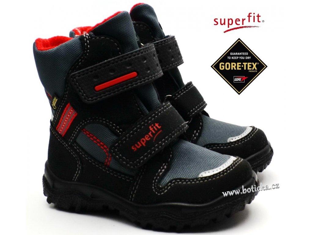 Zimní obuv SUPERFIT 5-09044-00 schwarz rot