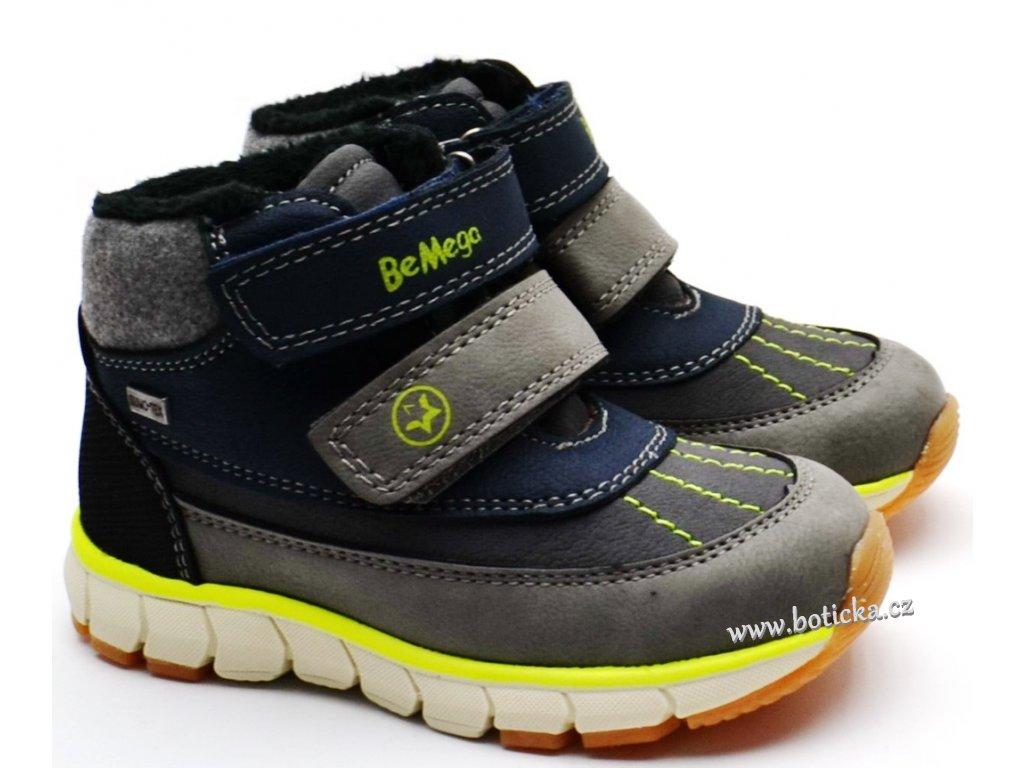Zimní obuv Be Mega 7931405 šedomodré