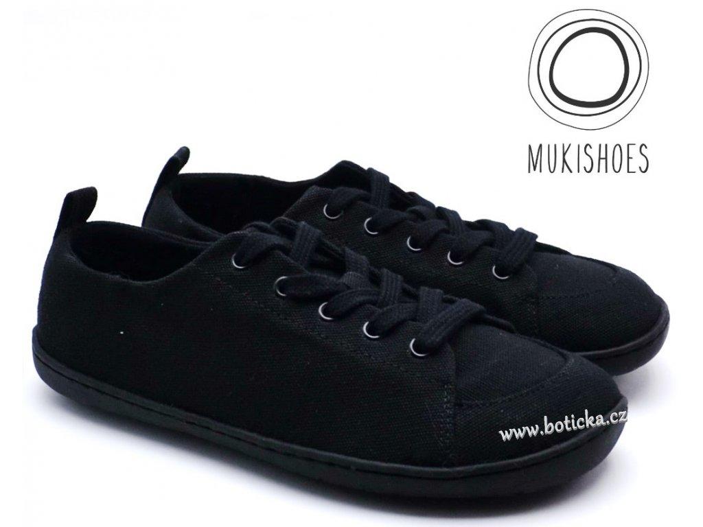 Barefoot tenisky Mukishoes - Low-cut ONYX