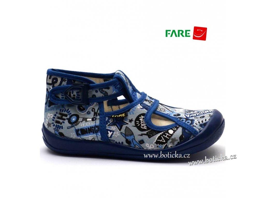 Bačkory FARE 4114409 modré - Botička 30b9a42273