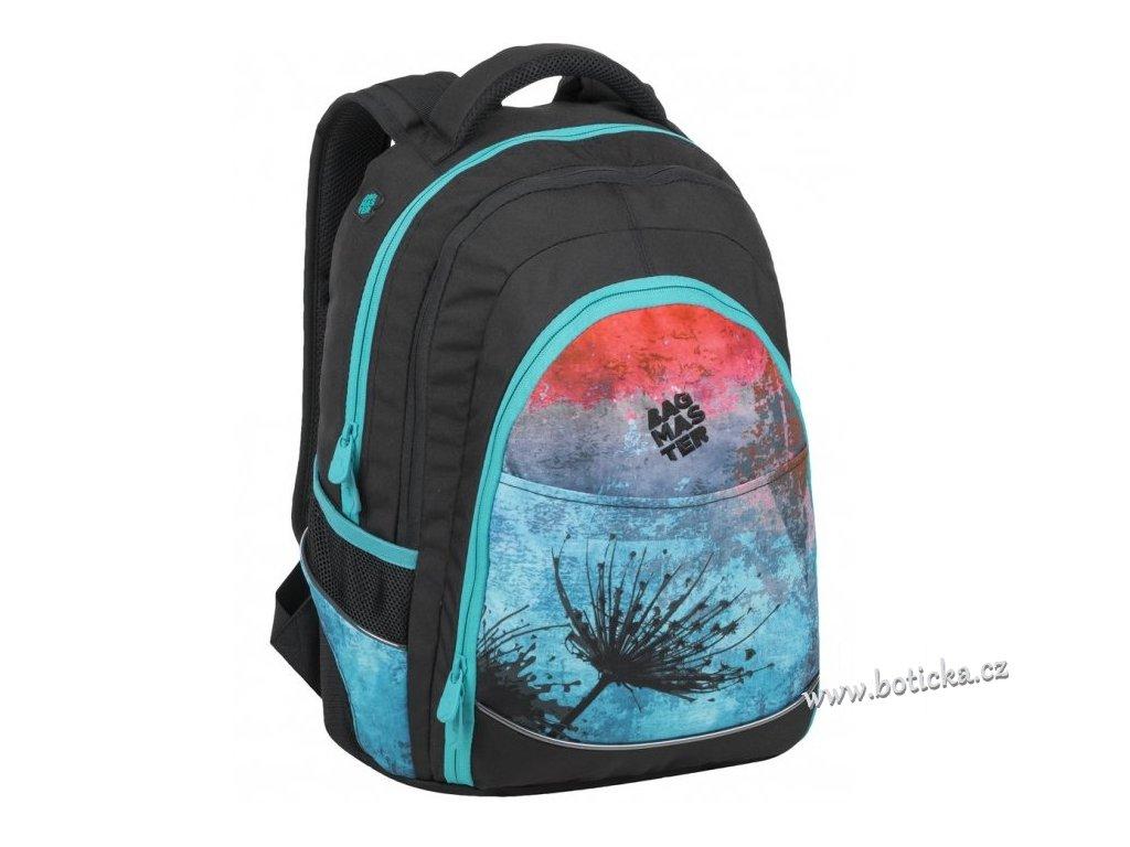 Studentský batoh BAGMASTER DIGITAL 9 A BLUE/RED/BLACK