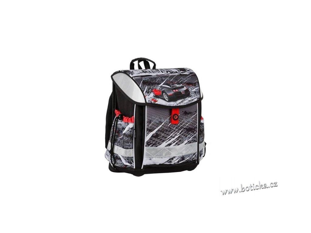 Školní aktovka BAGMASTER LIM 9 B Black/White/Red