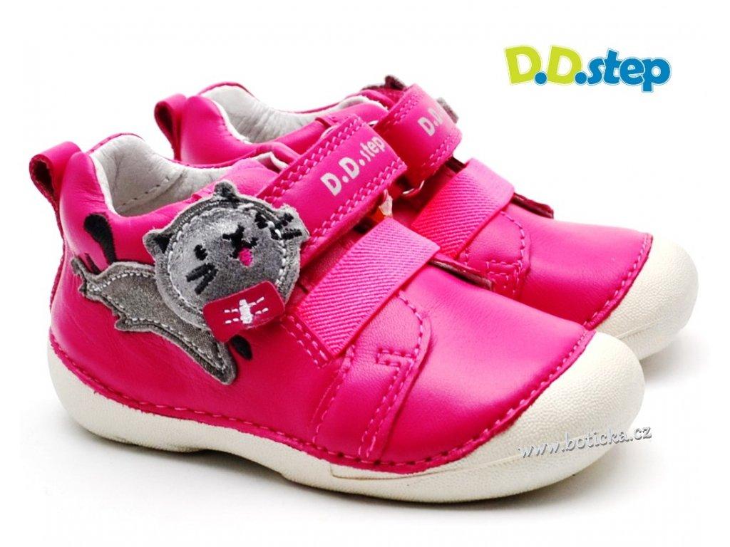 Dětské boty DDstep 015-195 tm. růžová