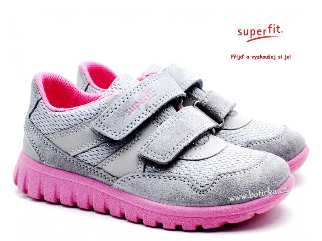 SUPERFIT 6-09191-26 hellgrau/rosa Dětské boty