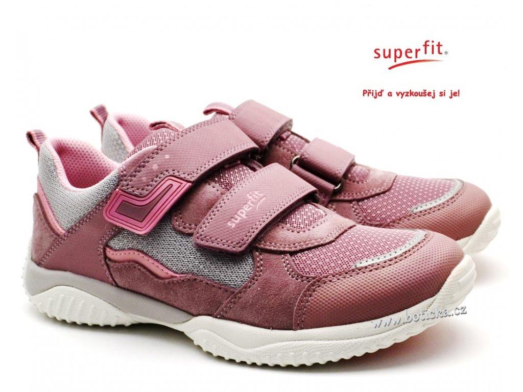 SUPERFIT 6006382-90 Dětské boty lila/grau