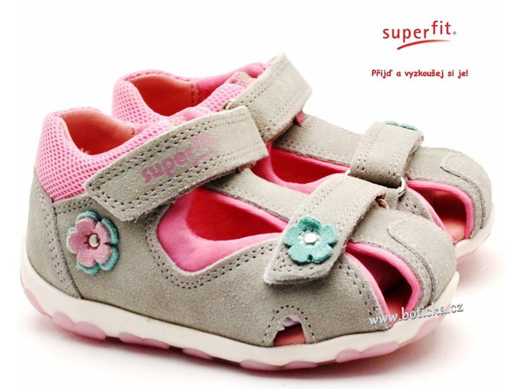 Dětské sandále SUPERFIT 6-09037-25 hellgrau/rosa