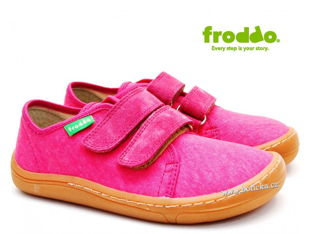 Textilní barefoot FRODDO G1700270 fuxia