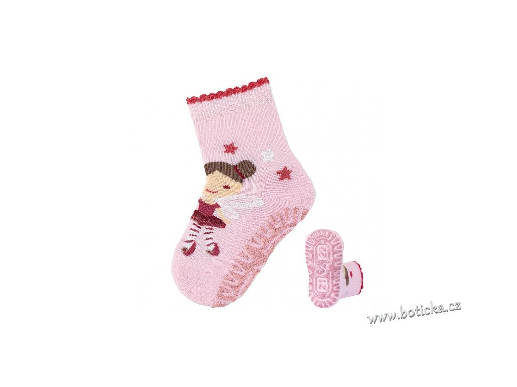 Protiskluzové ponožky STERNTALER 8131912 rosa