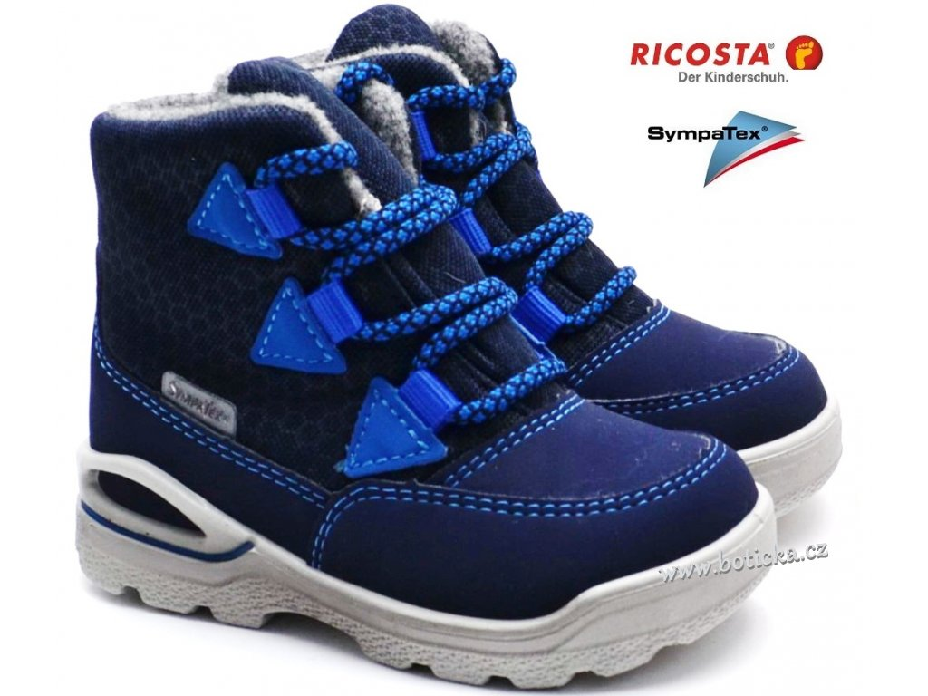 Zimní boty RICOSTA 39301 172 ozean azur