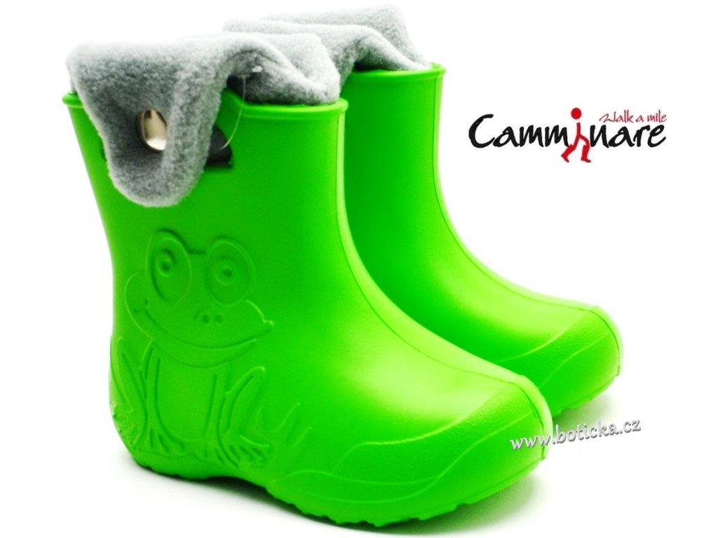 CAMMINARE G002 zateplené sněhule/gumáky zelené