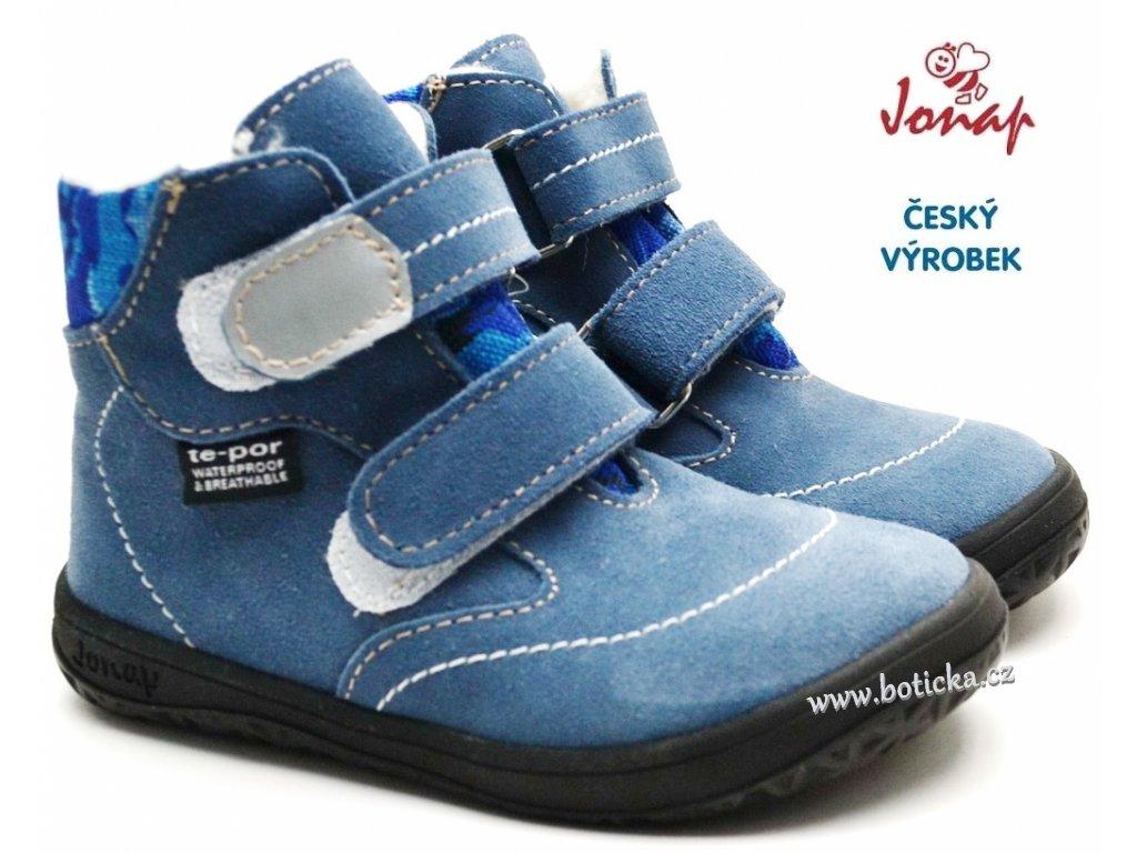 Dětské zimní barefoot boty JONAP B5 modré