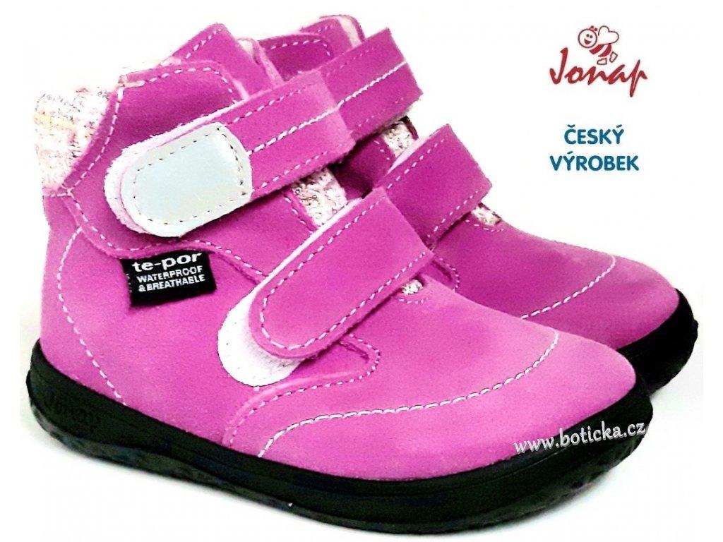 Dětské zimní barefoot boty JONAP B5 růžové