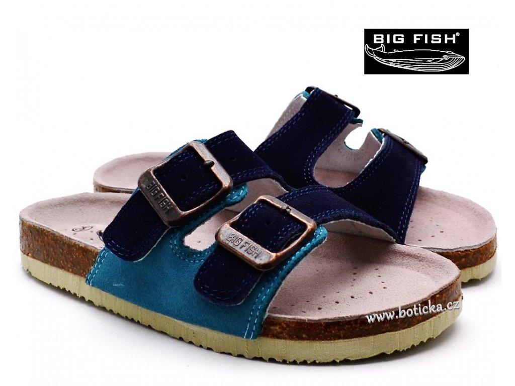 Pantofle BIG FISH FU-513-17-03 tm. modré