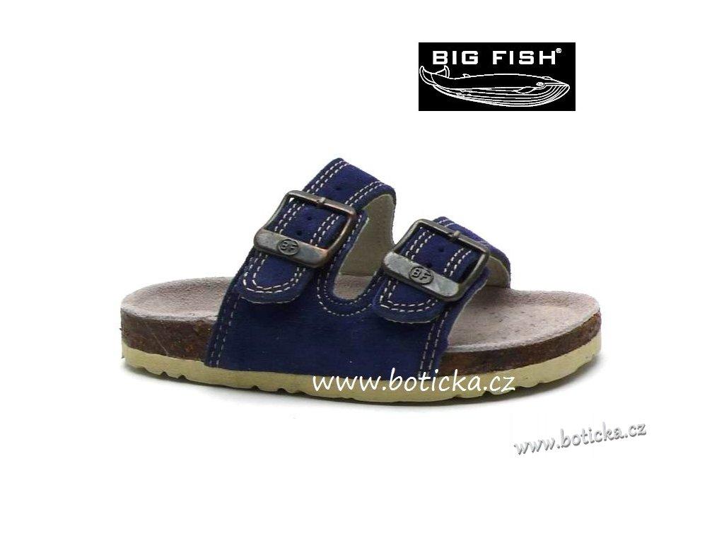 Pantofle Big Fish BY-213-1-99 tm. modrá