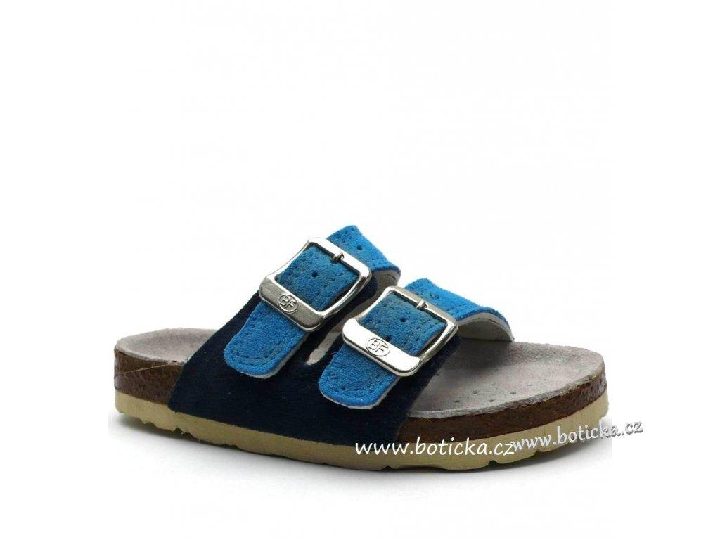 Pantofle BIG FISH FV5131703 sv. modré