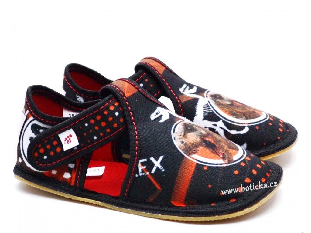 Dětské barefoot bačkory EF BAREFOOT 385 Trex