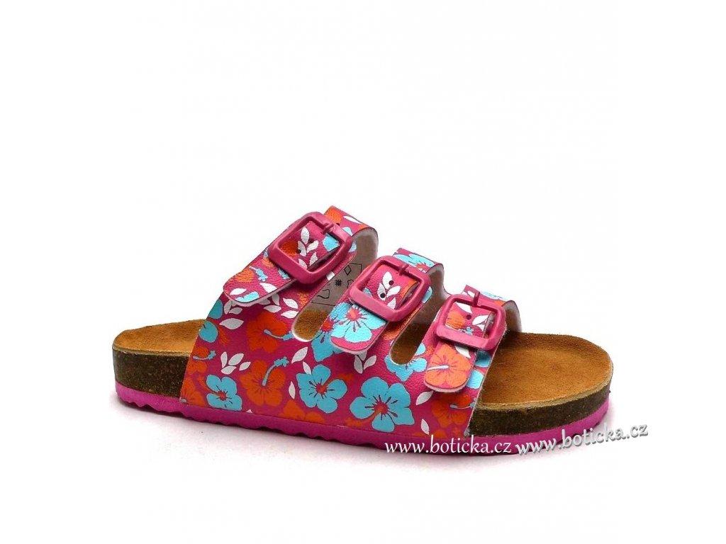 Pantofle Bio 703503 fuchsia