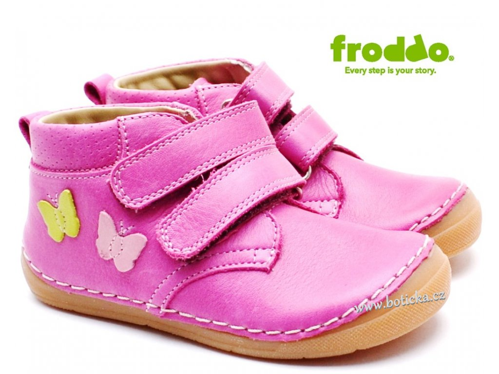 Dětské boty FRODDO G2130220-8 fuxia