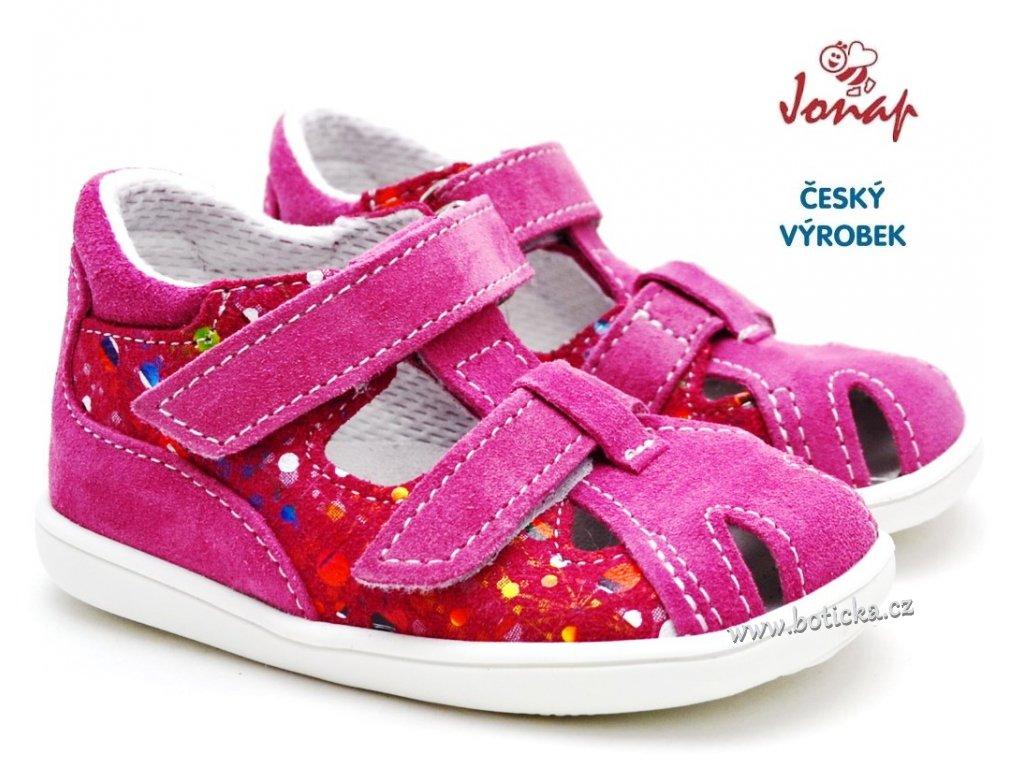 Dětské sandály JONAP 727251-041s růžová tisk