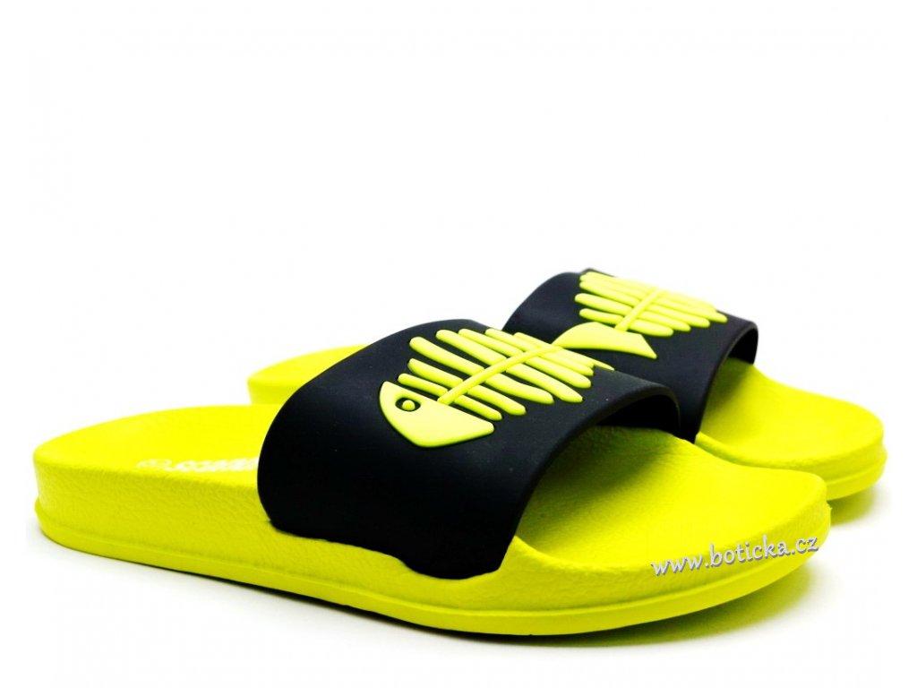 Pantofle SCANDI 280-0059 zelené