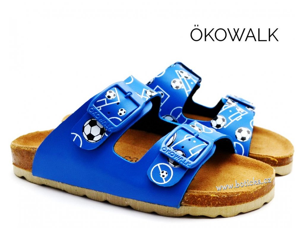 Chlapecké pantofle OKOWALK MATCHBALL blue