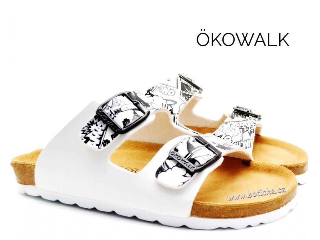PANTOFLE OKOWALK COMIX WHITE