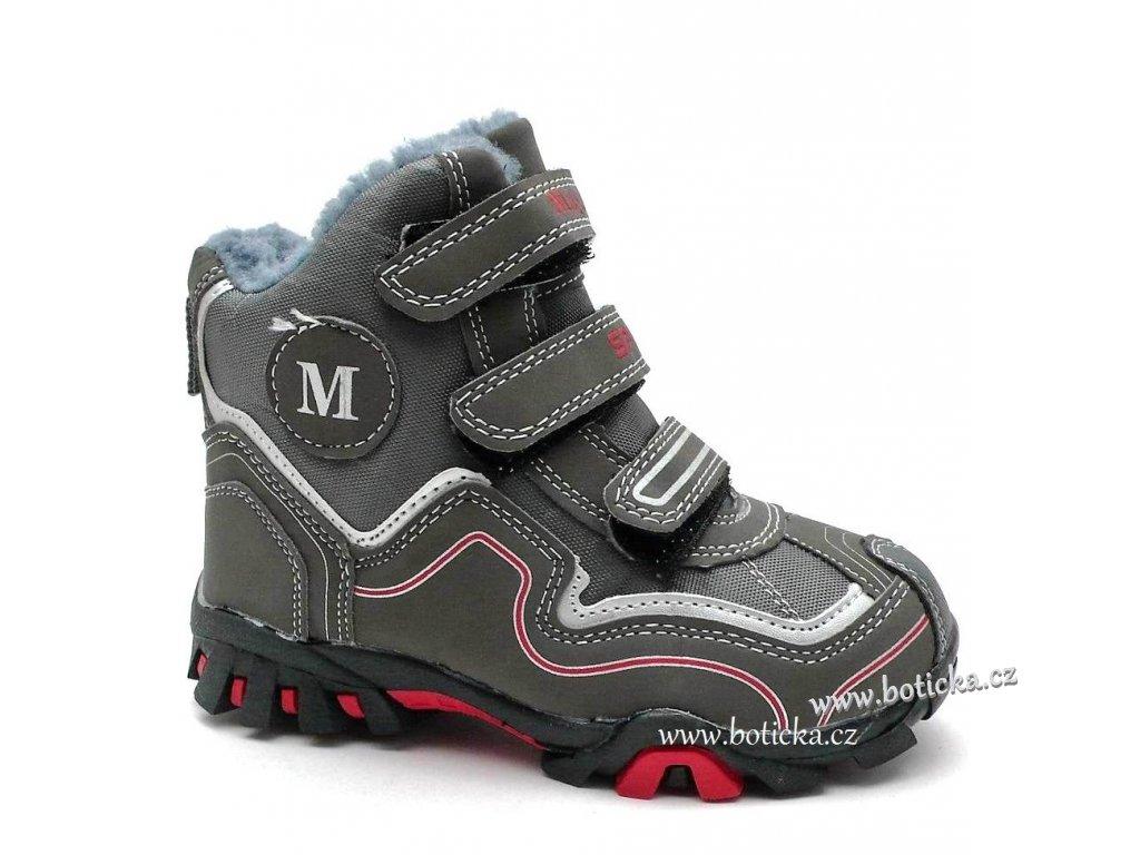 MAGNUS obuv zimní 46-0695 šedé