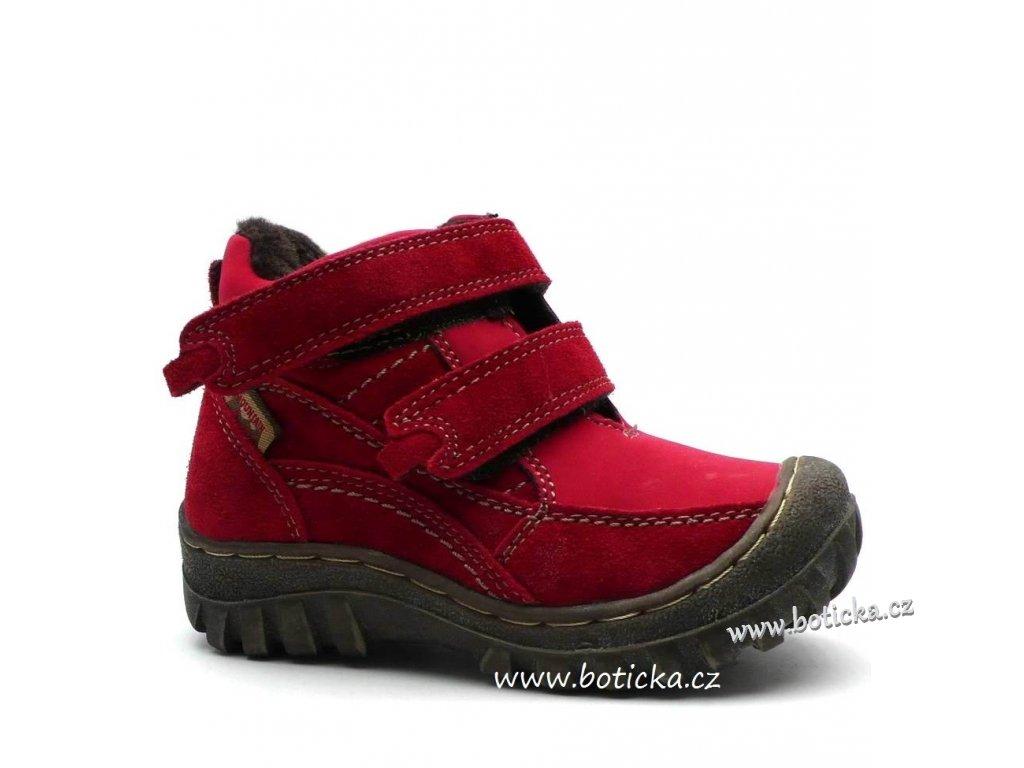 Zimní boty OBUTEX V211008 red