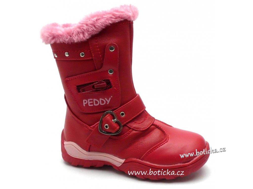 PEDDY kozačky PT-633-35-08 růžová