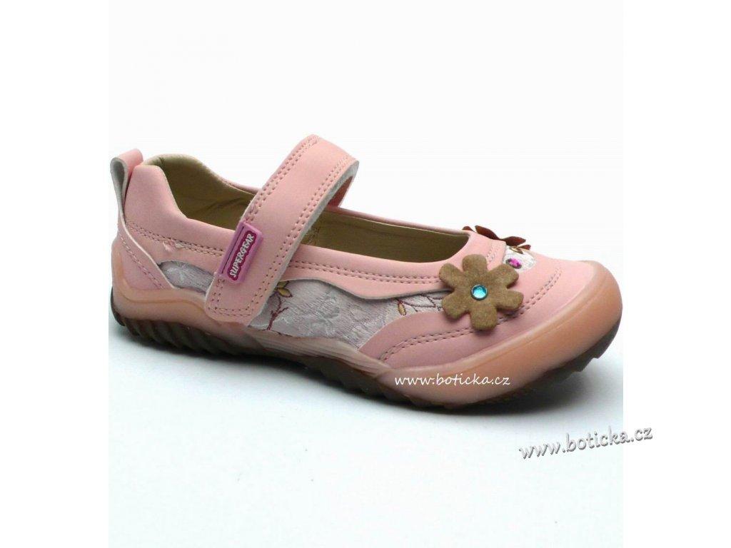 Dívčí balerínky SUPER GEAR A5236 růžové