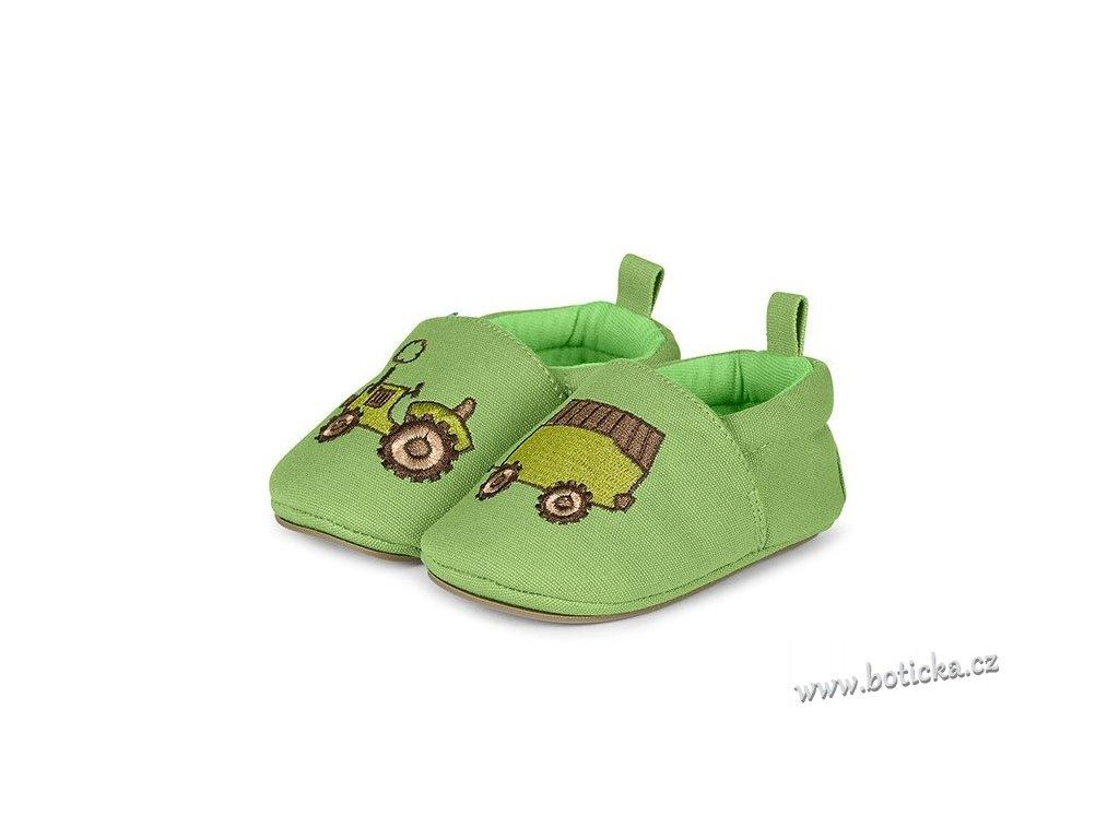 STERNTALER botičky traktor zelený