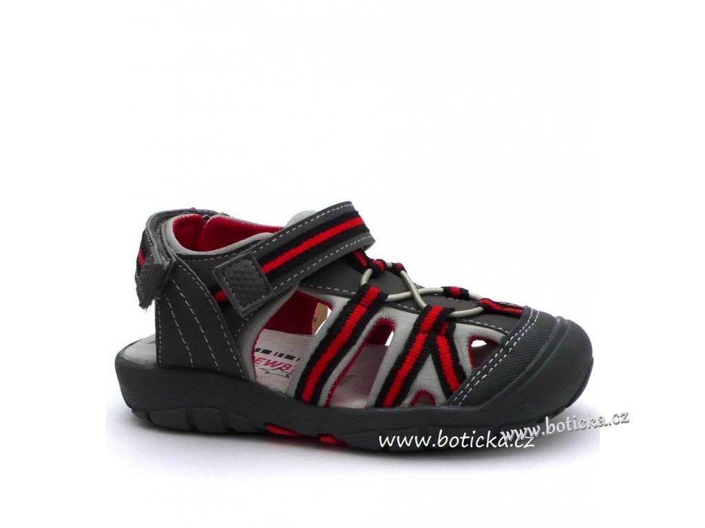NEW8TEEN sandále 293422 šedé